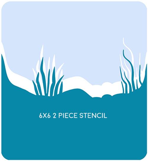 Underwater Edger 1 Stencil