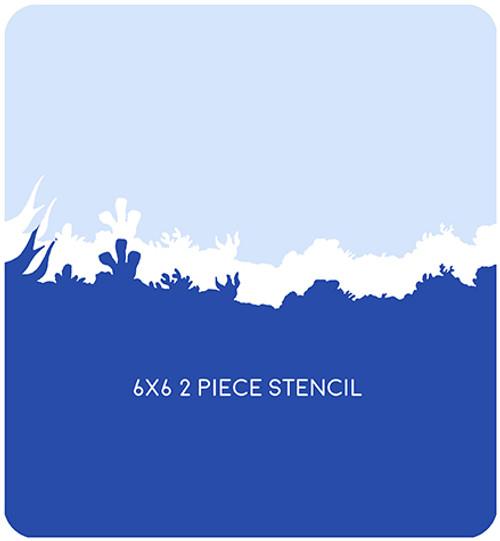 Underwater Edger 2 Stencil