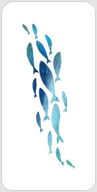 School of Fish Stencil