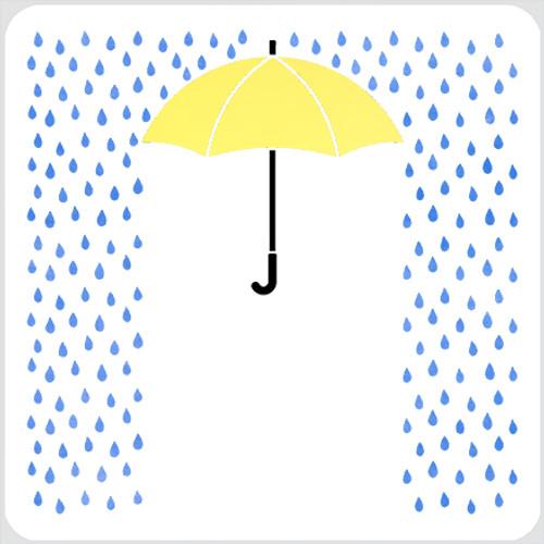 Rainy Stencil