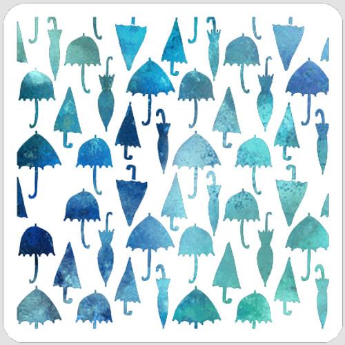Umbrellas Stencil