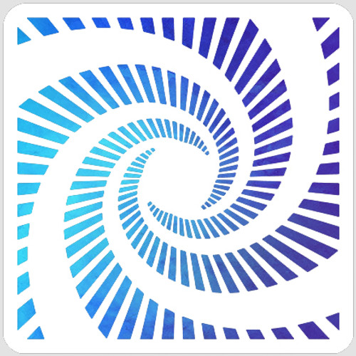 Striped Spiral Stencil