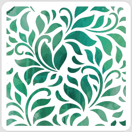 Luxuriant Leaves Stencil