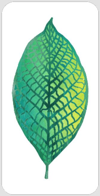 Layered Veined Leaf Stencil