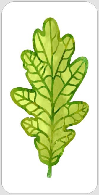 Layered White Oak Leaf Stencil