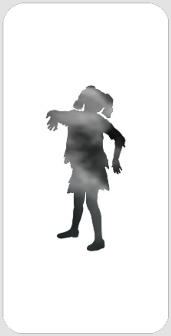 Pigtail Zombie Stencil