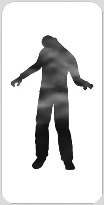 Zombie Man Stencil