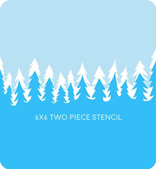 Christmas Tree Edger 1 Stencil