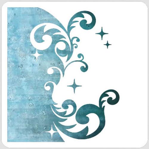 Split Bling Swirl Stencil