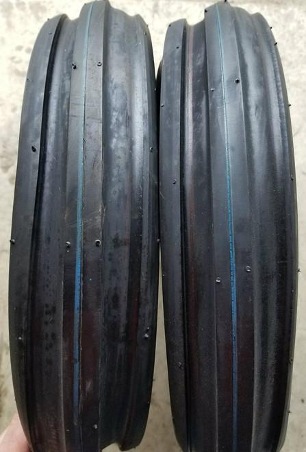 3.50-8 4P Deestone F-2 Tri Rib D401 (2 tires)