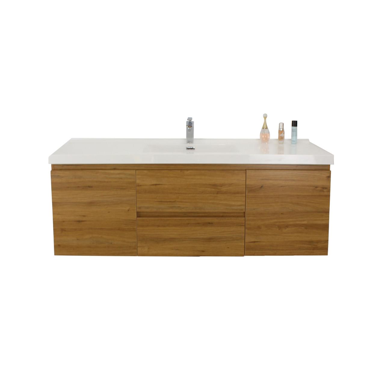 Bohemia 60 Single Sink Black Wall Mounted Modern Bathroom Vanity With Reinforced Acrylic Sink Tona Bathroom Vanity