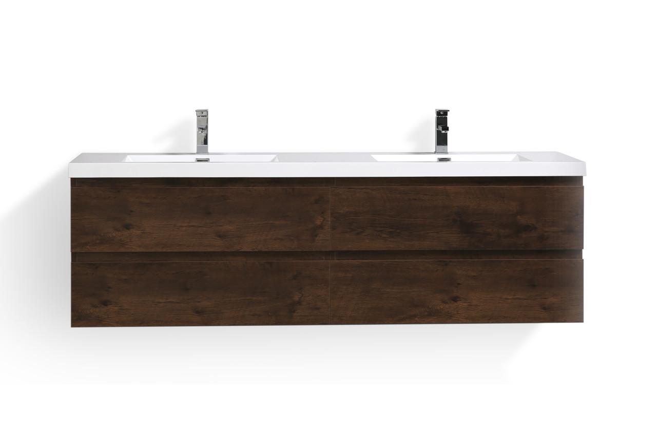 Bohemia 72 Wall Mounted Modern Bathroom Vanity With Reinforced Acrylic Sink Tona Bathroom Vanity