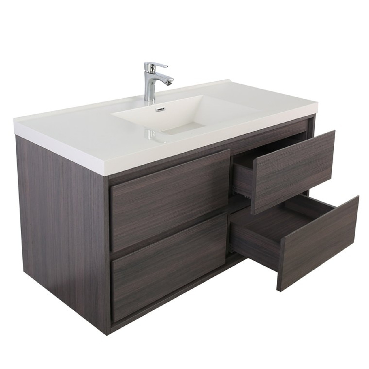 Sage 48 Single Sink Wall Mounted Modern Vanity