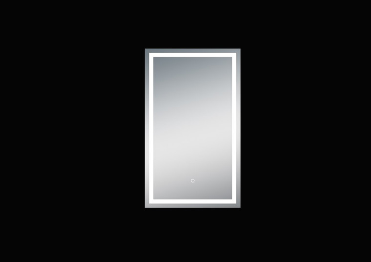 Twinkle 24'' Polished Edge Frosted Panel LED Mirror