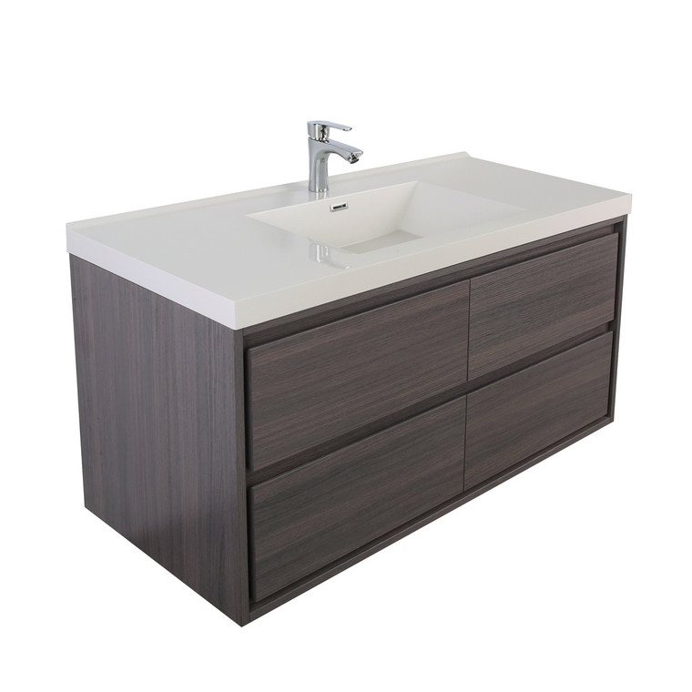 "Sage 48"" Single Sink Wall Mounted Modern Vanity"