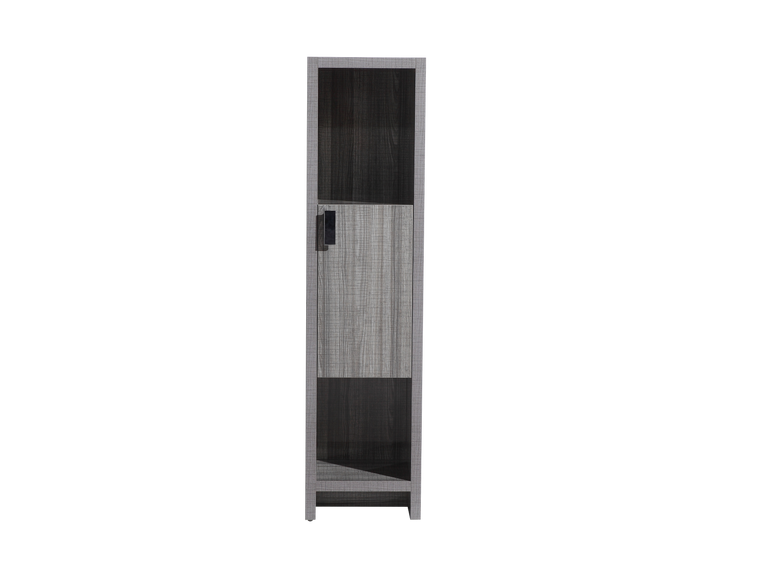 LEVI 16'' LINE CABINET IN HIGH GLOSS ASH GREY