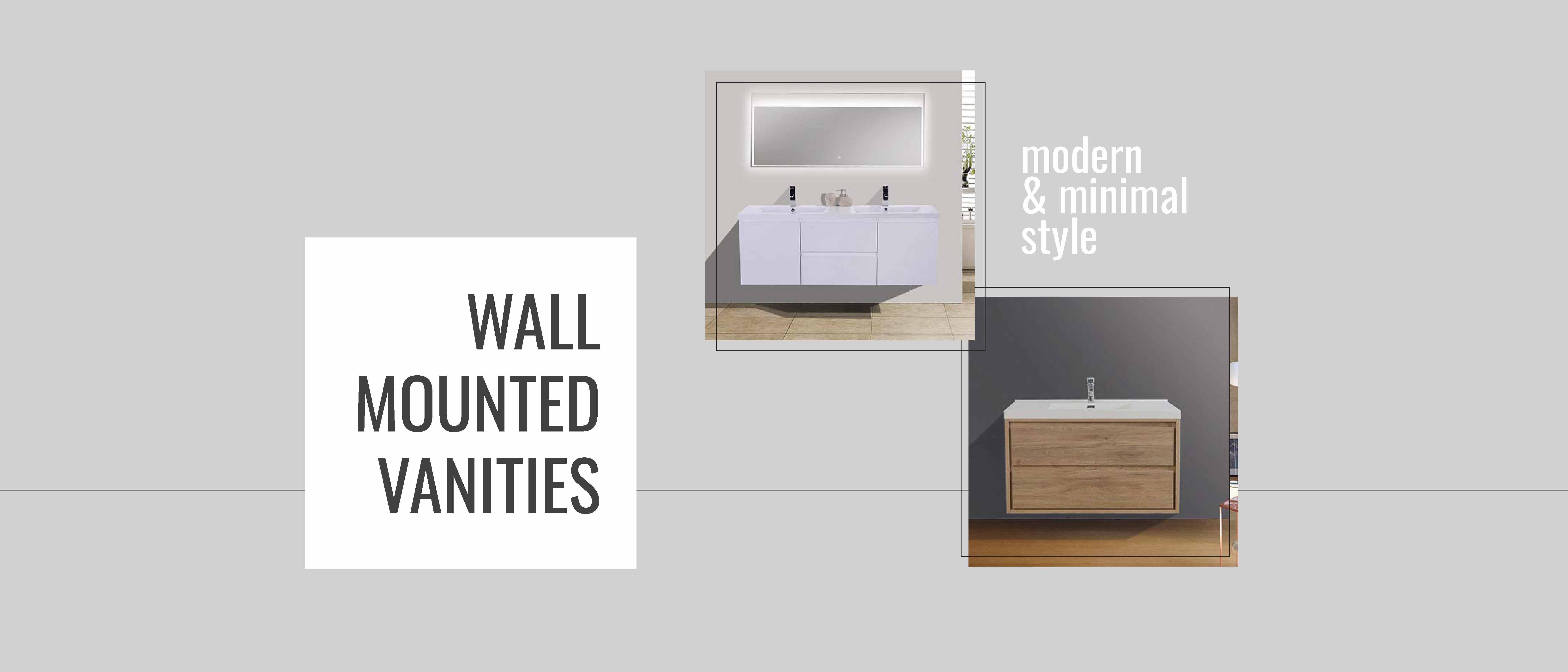 Floating vanity, in wall vanity, wall hung vanity, wall mount vanity, modern vanity,