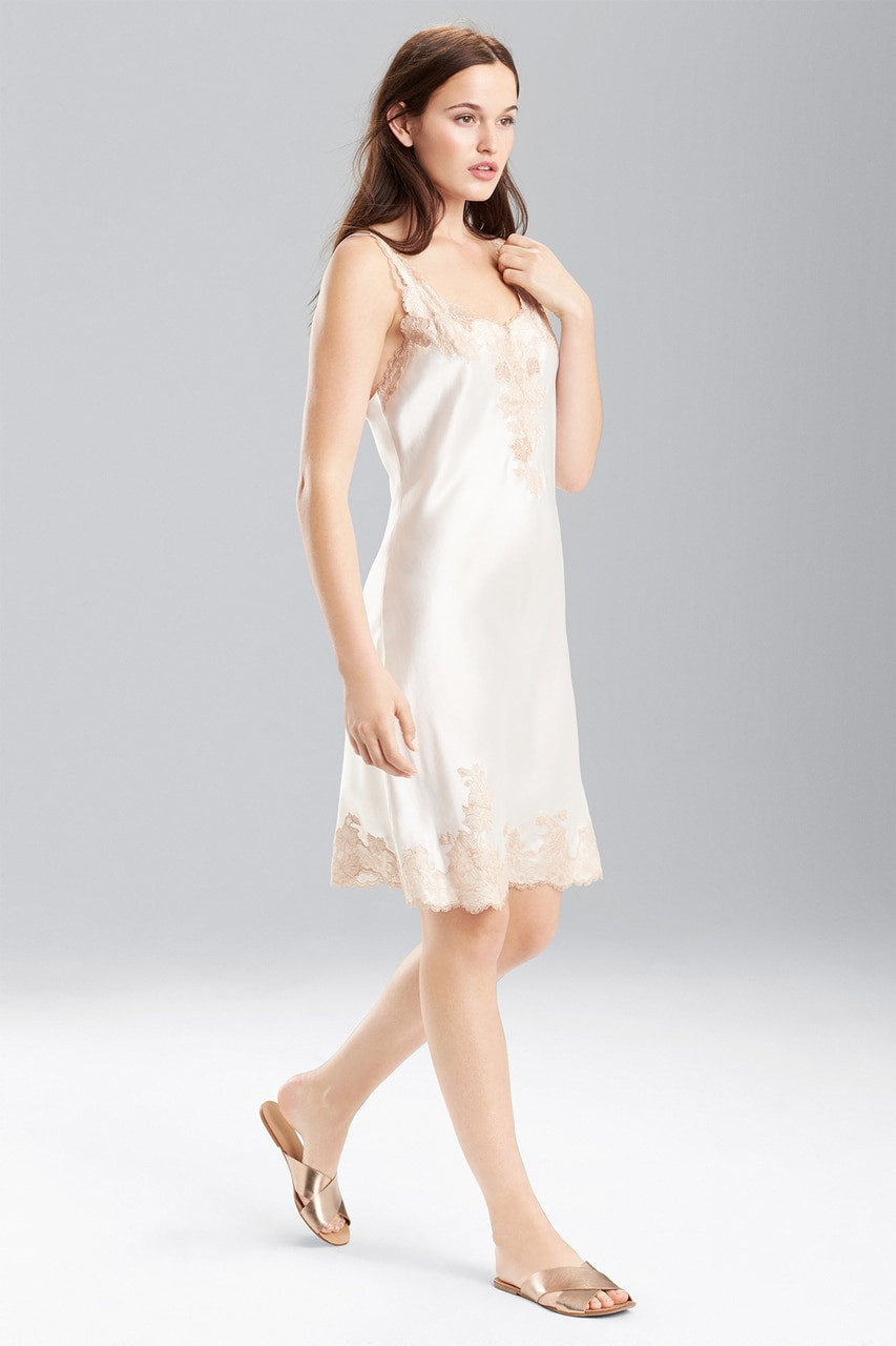 8a45c34228a Josie Natori Lolita Chemise With Top And Bottom Lace Style A48104