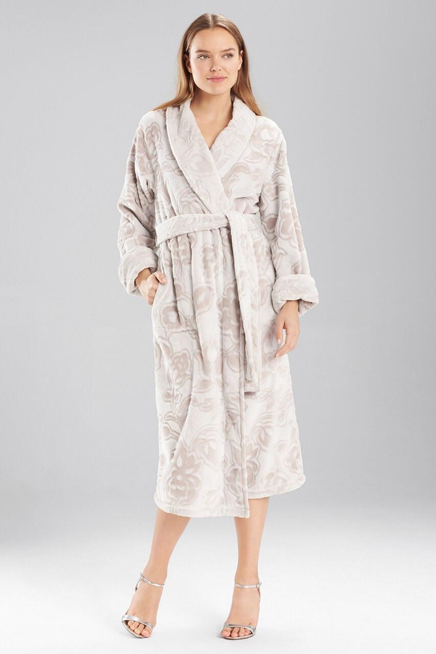 d791a7a695 Plush Damask Robe - The Natori Company