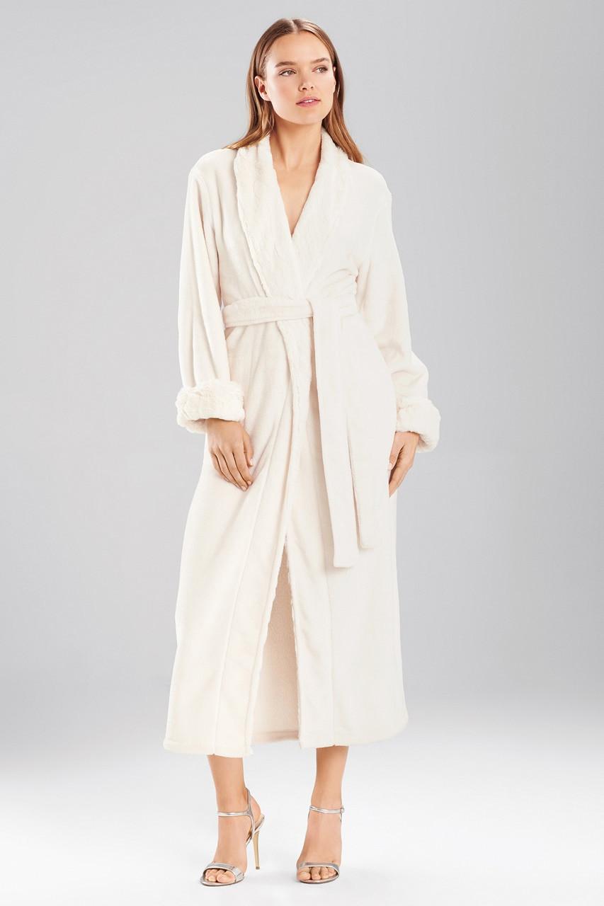 942f3db08f Faux Fur Printed Robe - The Natori Company