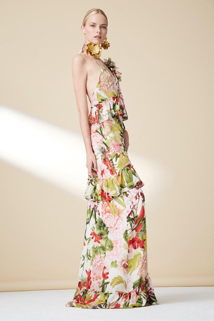 10abe38447 Paradise Floral Tiered Maxi Dress - The Natori Company