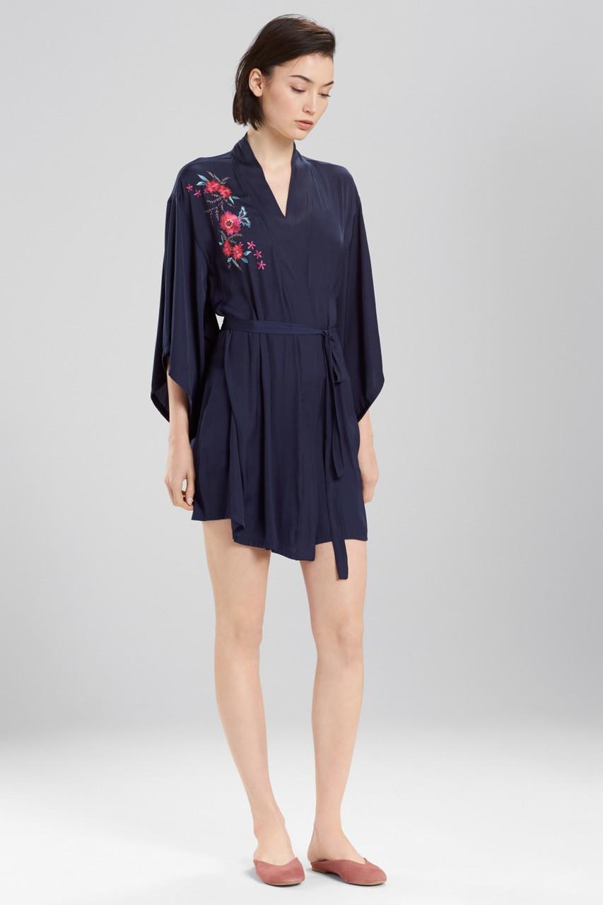 891aaf6e44 Bardot Satin Boho Embroidery Robe - The Natori Company