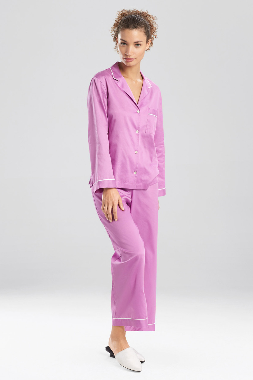 Cotton Sateen Essentials Pj With Piping