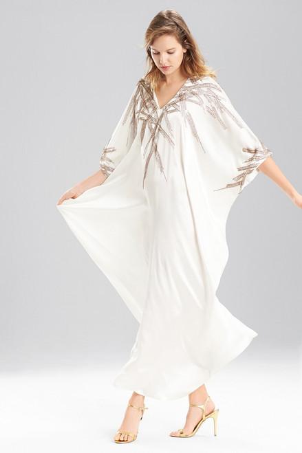 Couture Beaded Ikat Caftan
