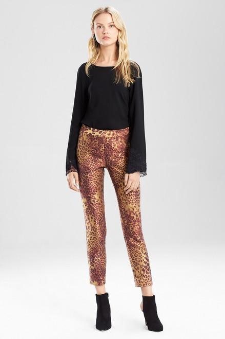 Animal Jacquard Pants