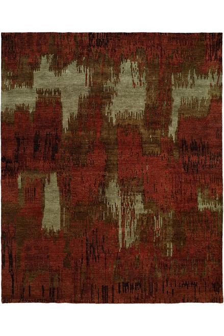 Buy Natori Dynasty- Brushstroke Red Tones Rug from