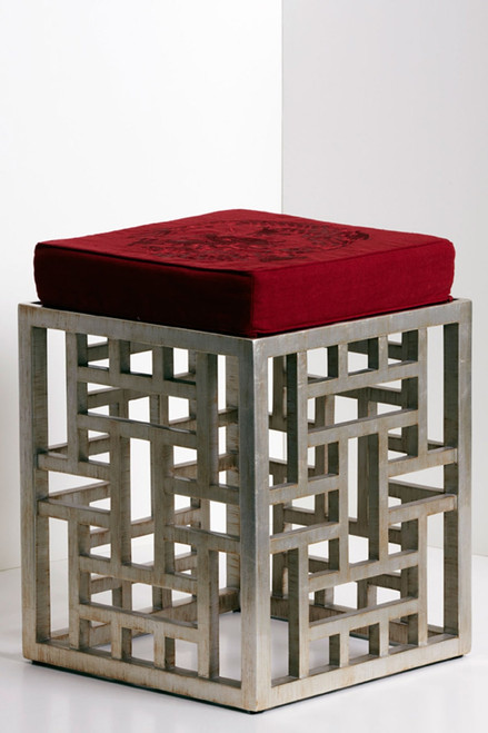 Lacquer Fretwork Stool