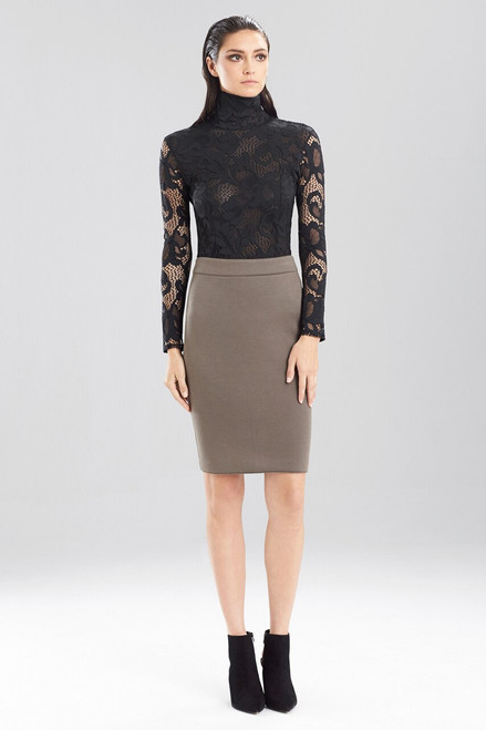 Double Face Bonded Jersey Pencil Skirt