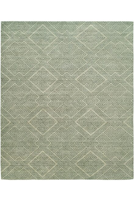 Natori Shangri-La- Interlock Green Tones Rug at The Natori Company