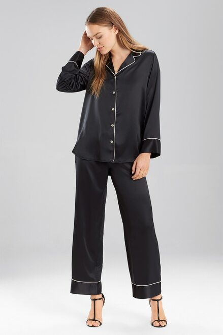 Buy Natori Solid Charmeuse Essentials Long Sleeve PJ from