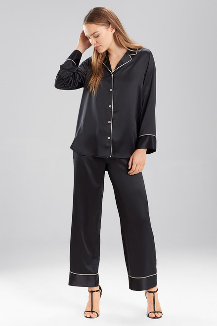 Solid Charmeuse Essentials Long Sleeve PJ