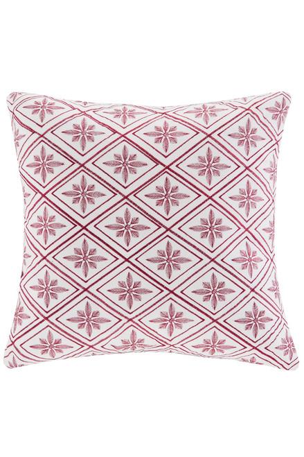 Cherry Blossom Geometric Square Pillow