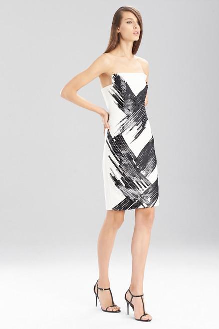 Fluid Crepe Strapless Dress