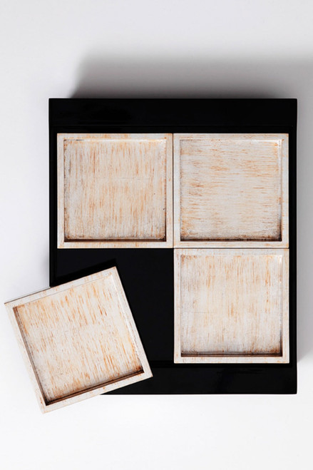 Buy Lacquer Square Tray Set from