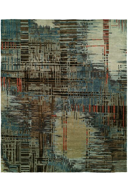 Buy Natori Dynasty- Abstract Plaid Rug from
