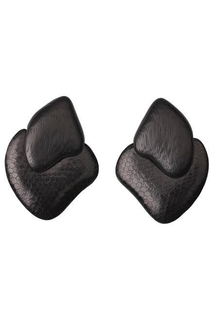 Acacia Wood Clip Earrings