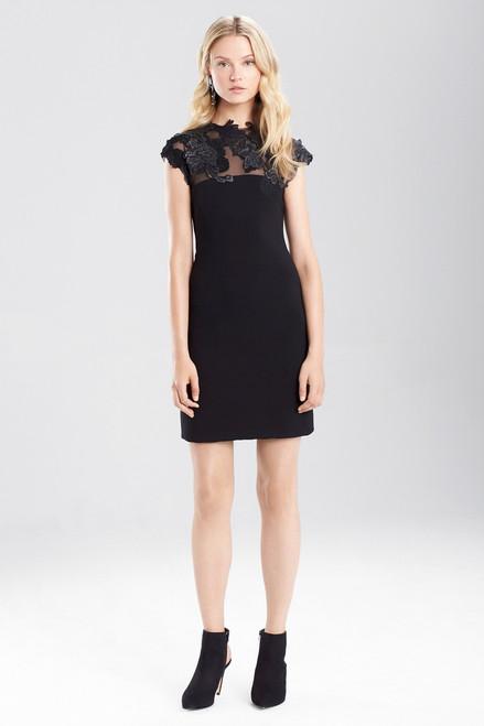 Duchess Satin Dress With Embellishment
