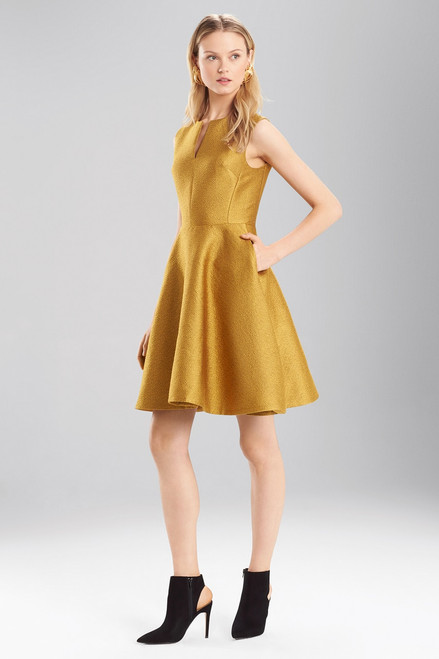 Pebble Jacquard Fit And Flare Dress