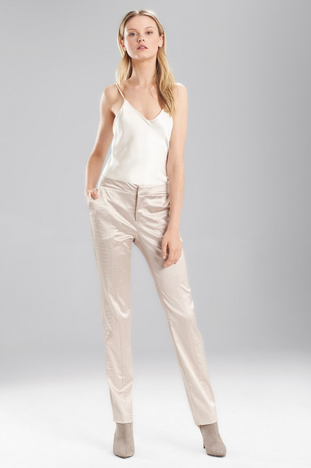 Stretch Embossed Crocodile Ankle Pants