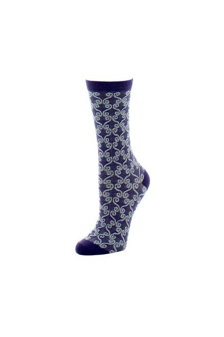 Buy Natori Etched Geo Crew Socks from