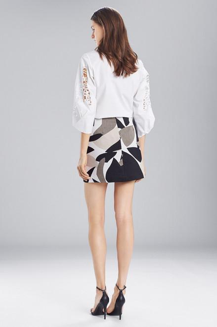 Josie Natori Abstract Printed Jacquard Mini Skirt at The Natori Company