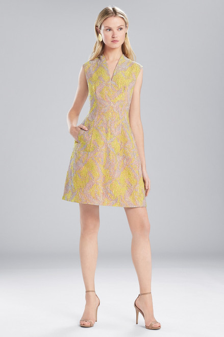 Buy Josie Natori Evening Jacquard V-Neck Dress from