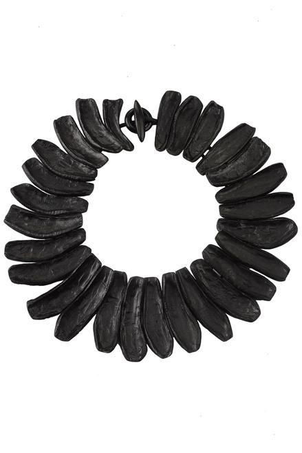 Buy Josie Natori Acacia Wood Round Necklace from