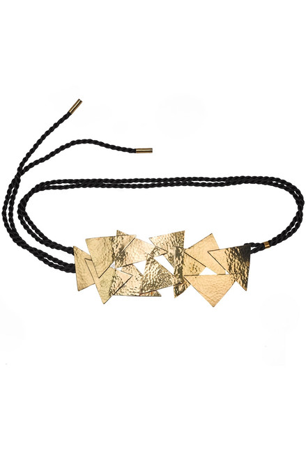 Buy Josie Natori Hammered Brass Buffed Belt from