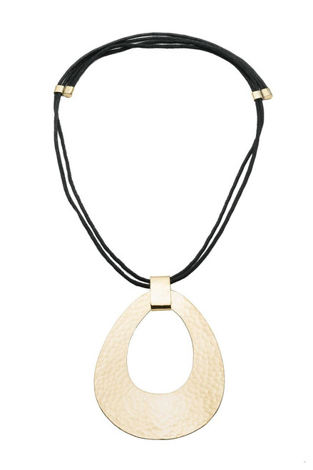 Buy Natori Brushed Brass Necklace from