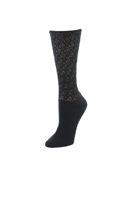 Natori Mesh Textured Crew Socks at The Natori Company